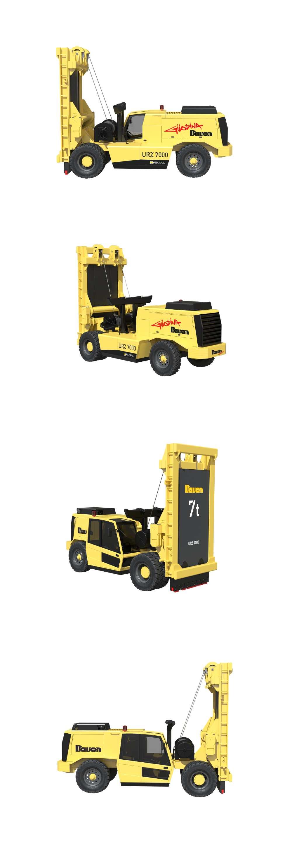 URZ 7000 – GILOTINA - DAVON – Técnica de extracción y de construcción